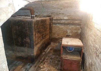 Oil and Metal Tank Removal from Domestic Basement in Birmingham