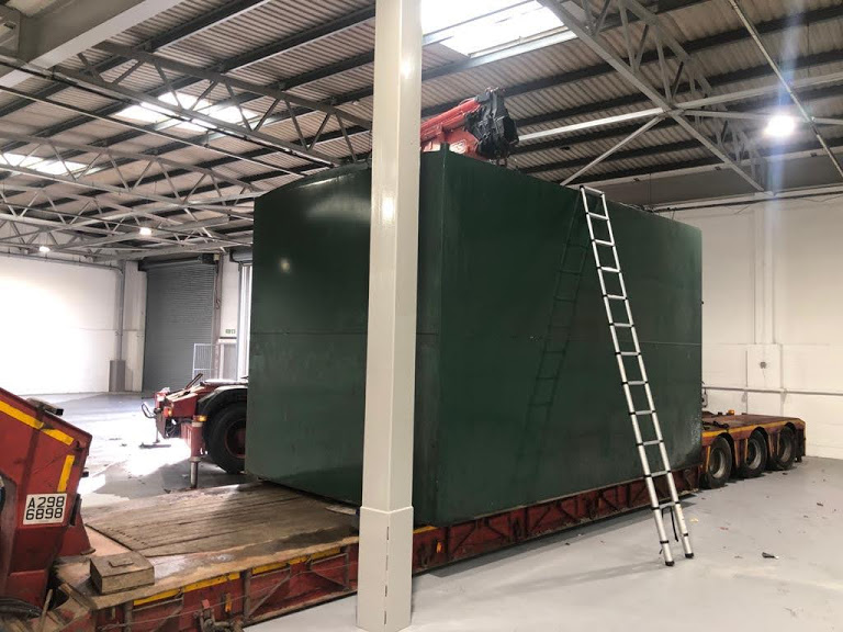 Removal of Large Tank From Warehouse